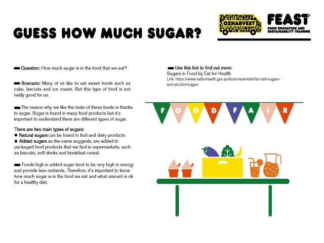 FEAST at home - guess how much sugar