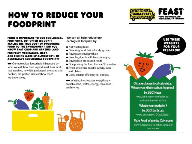 FEAST at home - how to reduce your foodprint