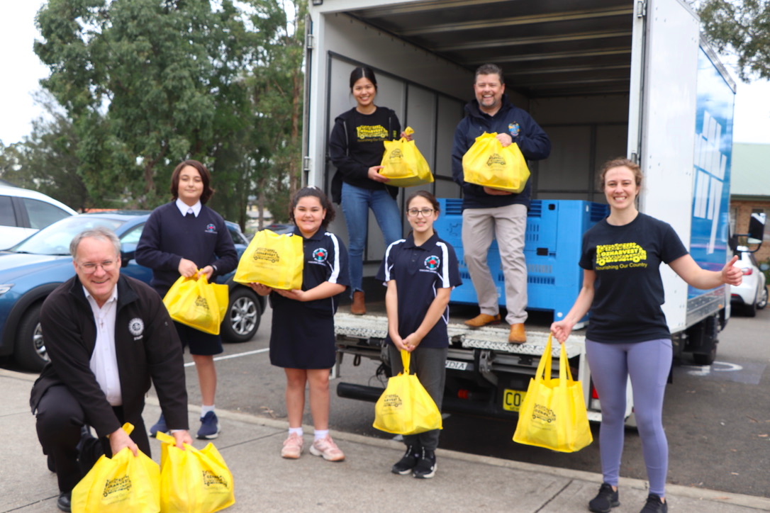 FEAST food hampers delivered to Holy Family Primary School