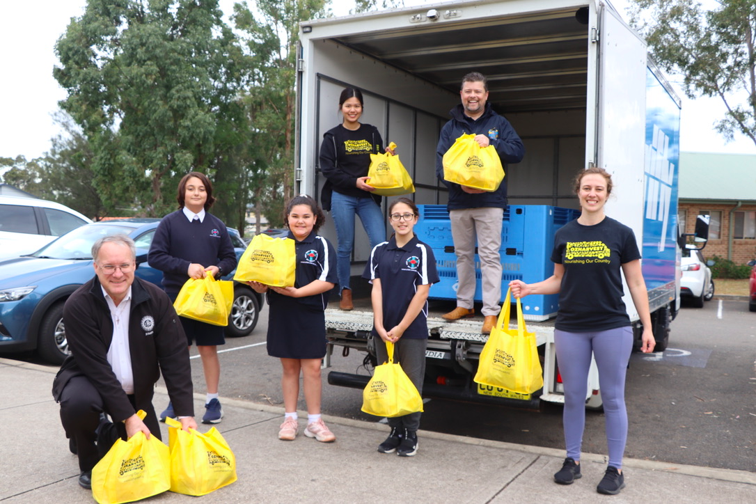 Picture: Holy Family Primary School. Not only did these hampers go to families from the school, they were shared with the Indigenous Catholic Services Centre, Holy Family Preschool, Holy Family Parish and other local community groups that may need them.