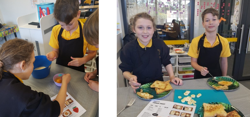 Randwick PS students cooking FEAST French Toast