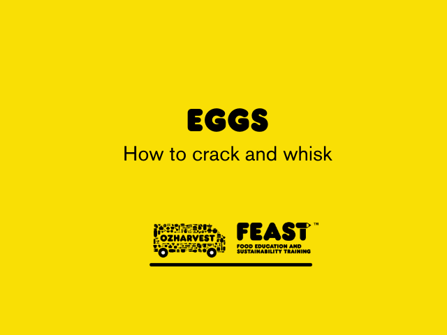 How to crack and whisk an egg
